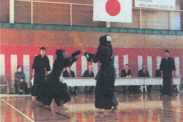 少年院在院者との剣道交流会でふれあい事業